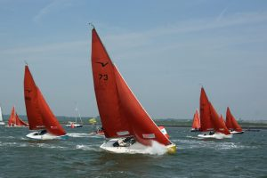 Squibs championship racing in boisterous conditions