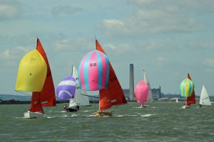 Squibs racing in the Medway Marathon