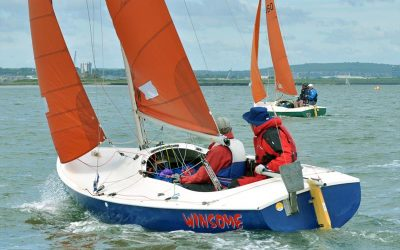 Squib fleet at the Medway Yacht Club Regatta 2019
