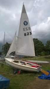 Wanderer sail no. 823 (Proctor built)